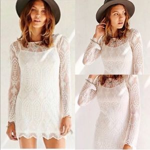 Long sleeve lace boho dress
